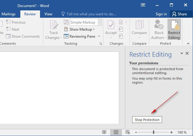 How to Remove MS-Word Restrict Editing